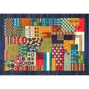 nuLOOM Casablanca Weldon Tribal Framed Patchwork Rug