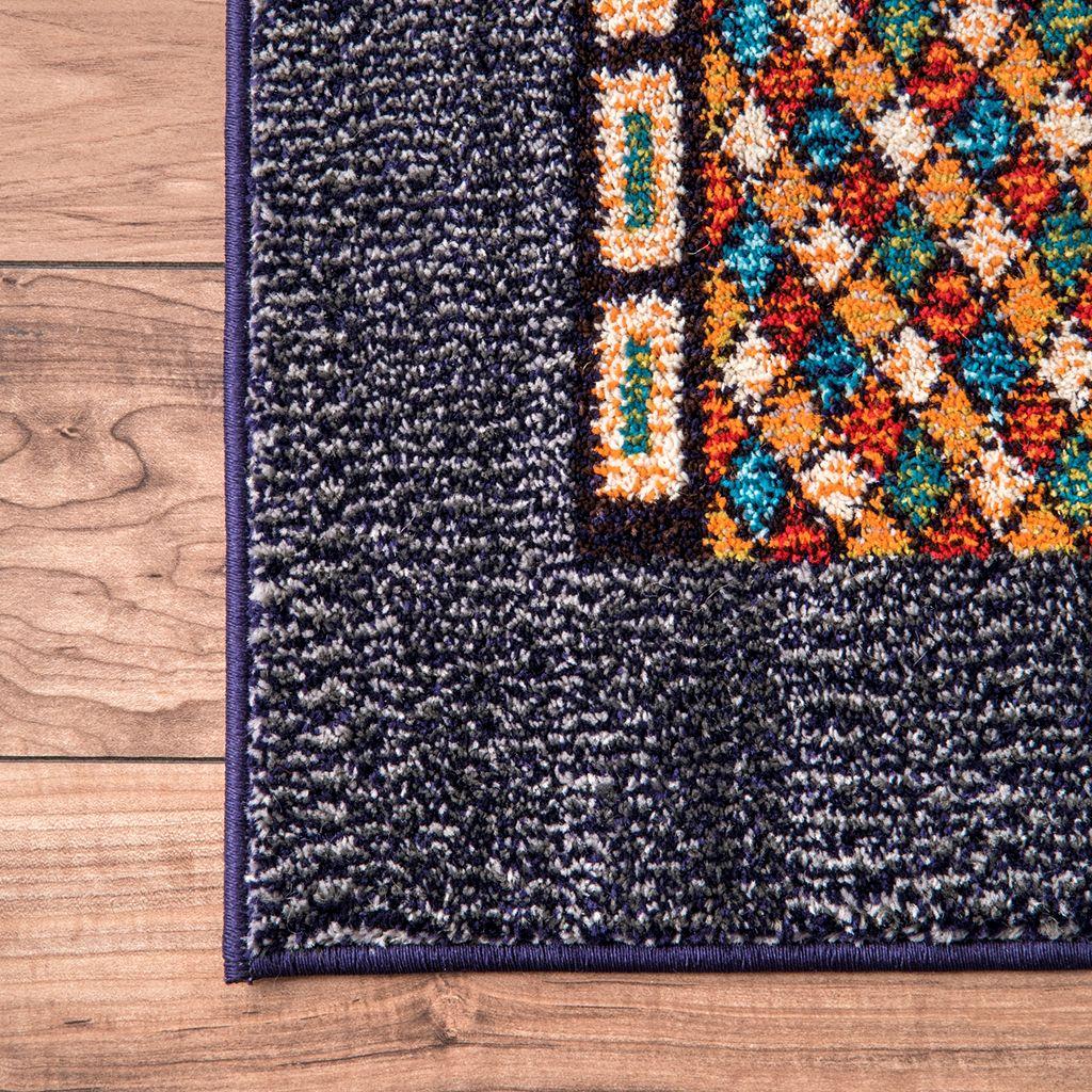nuLOOM Casablanca Weldon Tribal Framed Patchwork Rug