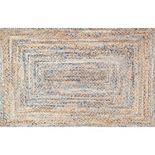 nuLOOM Dune Road Eliz Striped Braided Jute Blend Rug