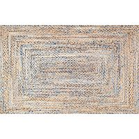 nuLOOM Dune Road Eliz Striped Braided Jute Blend Rug
