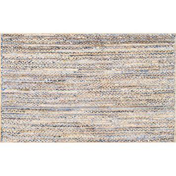 nuLOOM Dune Road Dara Striped Braided Jute Blend Rug