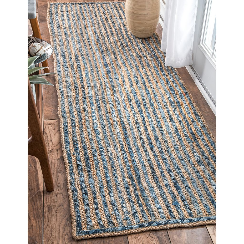 nuLOOM Dune Road Dara Striped Braided Jute Blend Rug