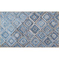 nuLOOM Dune Road Rima Diamonds Geometric Braided Jute Blend Rug