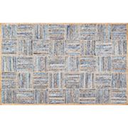 nuLOOM Dune Road Elva Geometric Braided Jute Blend Rug