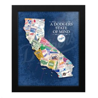 Los Angeles Dodgers State of Mind Framed Wall Art