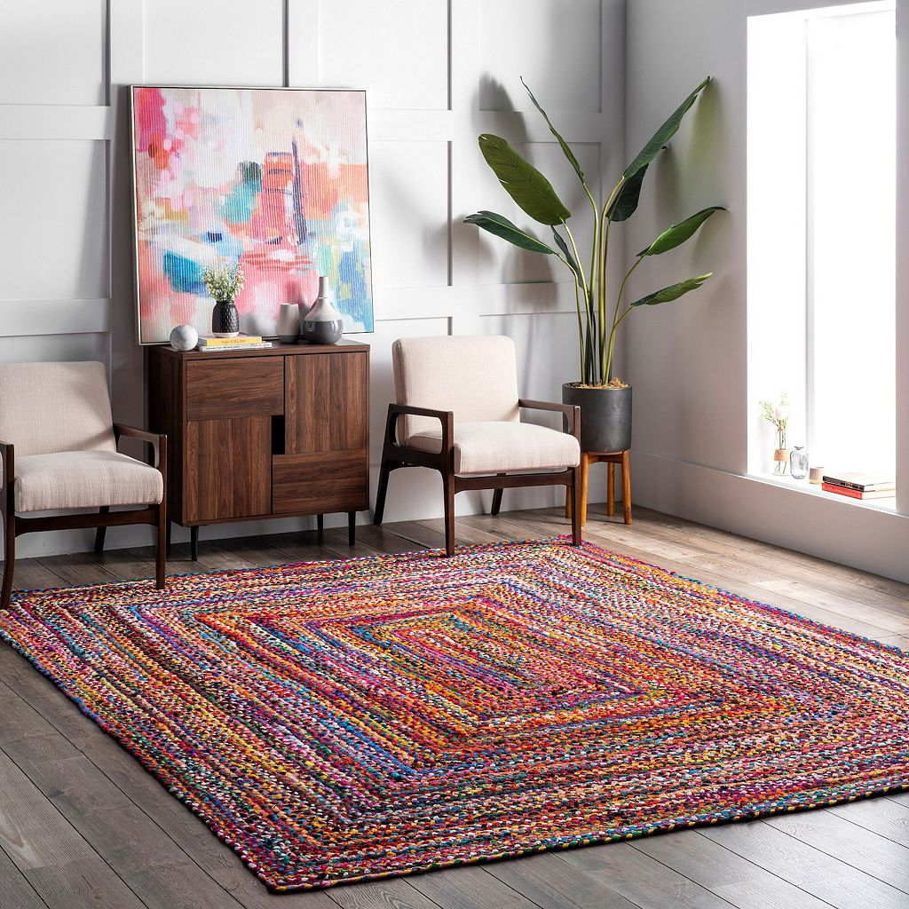 nuLOOM Nomad Tammara Striped Braided Rug