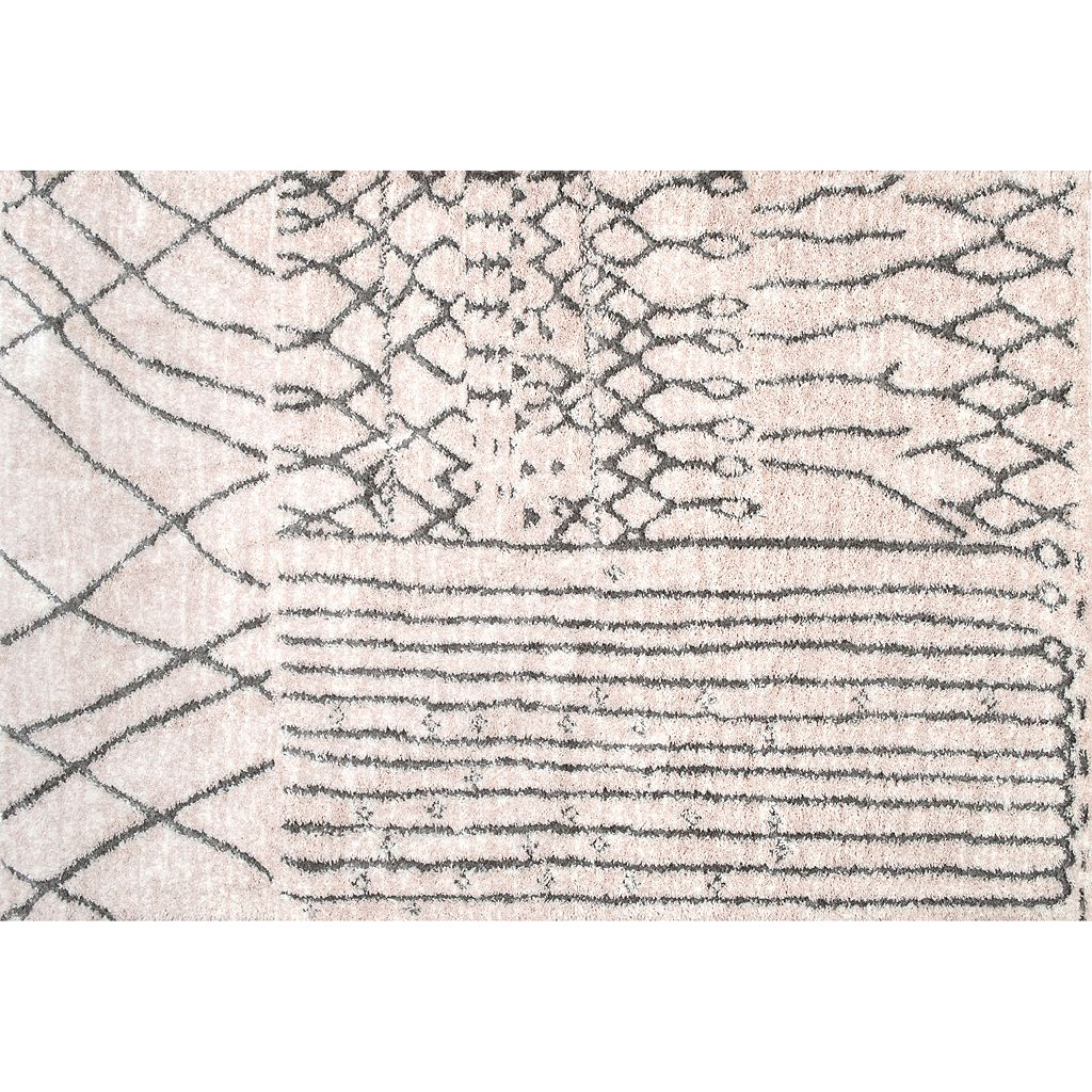 nuLOOM New Berber Nohemi Moroccan Geometric Shag Rug