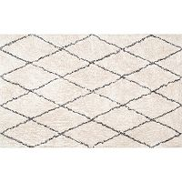 nuLOOM Eskimo Sheba Diamond Lattice Shag Rug
