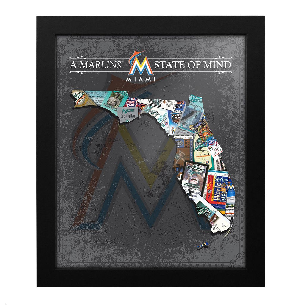 Miami Marlins State of Mind Framed Wall Art