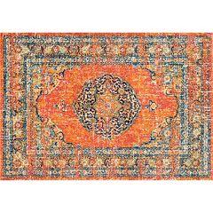 nuLOOM Bodrum Olivia Vintage Persian Framed Floral Rug