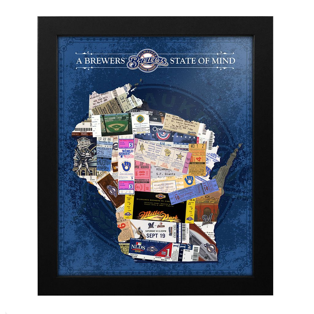 Milwaukee Brewers State of Mind Framed Wall Art