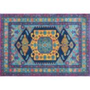 nuLOOM Bodrum Delena Persian Framed Floral Rug