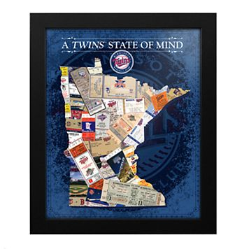 Minnesota Twins State of Mind Framed Wall Art