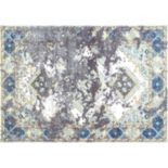nuLOOM Bodrum Delena Distressed Framed Diamond Medallion Rug