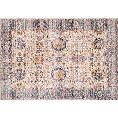 nuLOOM Dynasty Aretha Vintage Persian Framed Floral Rug