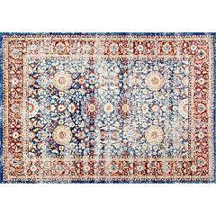 nuLOOM Dynasty Zoila Vintage Persian Framed Floral Rug