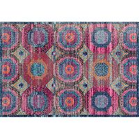 nuLOOM Stone Washed Marva Faded Medallion Rug