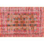 nuLOOM Stone Washed Mirella Vintage Framed Floral Rug