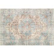 nuLOOM Stone Washed Bobette Vintage Persian Framed Floral Rug