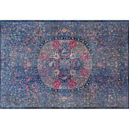 nuLOOM Stone Washed Mandala Celina Floral Rug