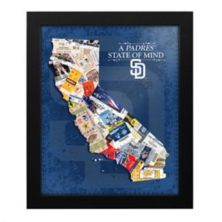 San Diego Padres State of Mind Framed Wall Art