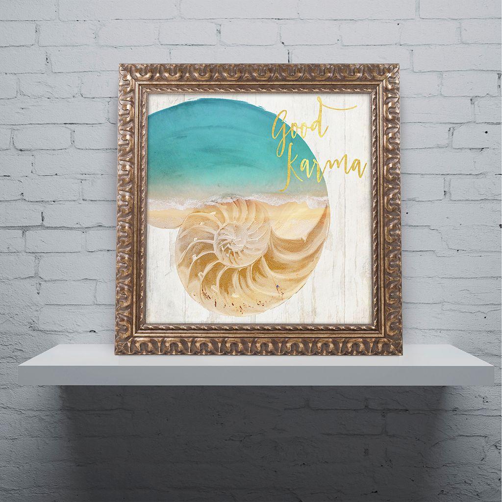 Trademark Fine Art Sea In My Hand Ornate Framed Wall Art