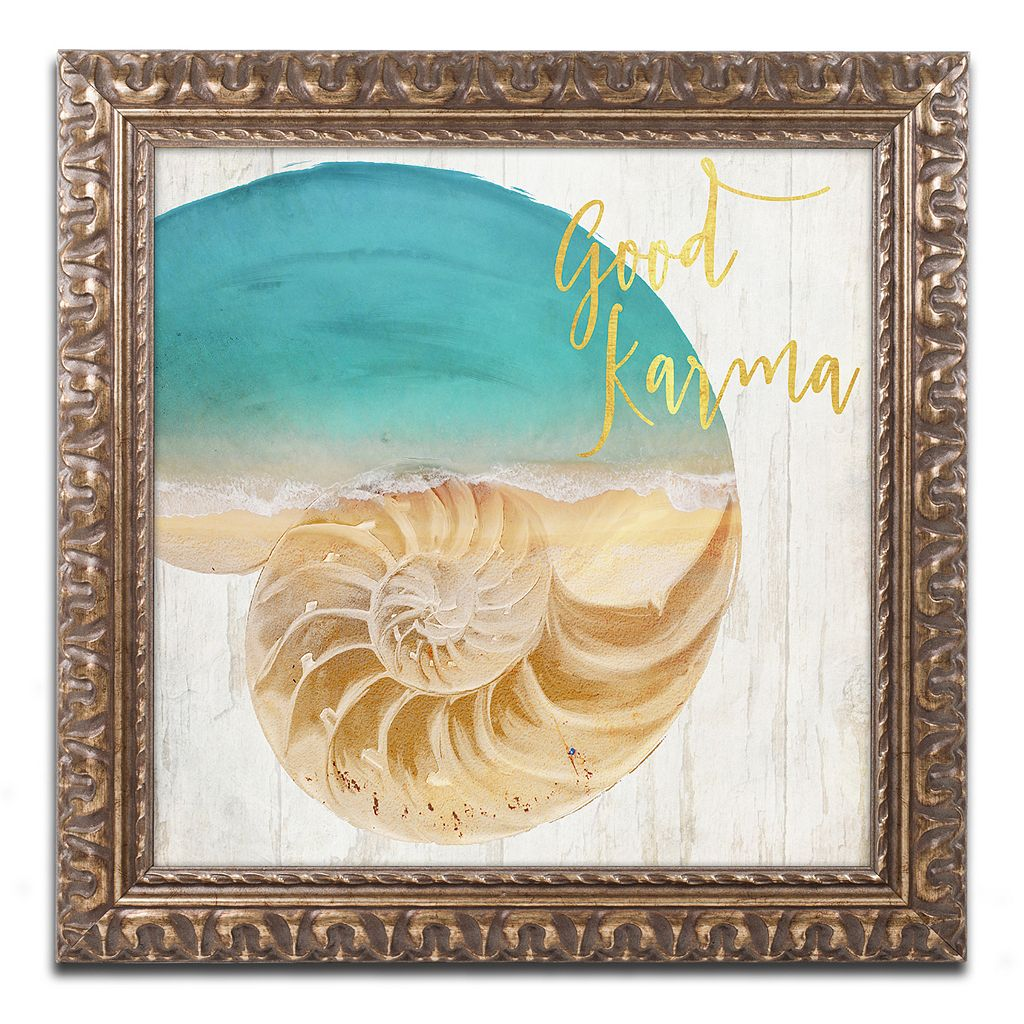 Trademark Fine Art Sea In My Hand Ornate Framed Wall Art