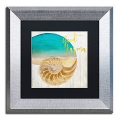 Trademark Fine Art Sea In My Hand Silver Finish Framed Wall Art