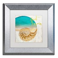 Trademark Fine Art Sea In My Hand Silver Finish Framed Wall Art