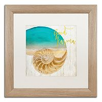 Trademark Fine Art Sea In My Hand Distressed Framed Wall Art