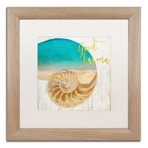 Trademark Fine Art Sea In My Hand Distressed Framed Wall Art