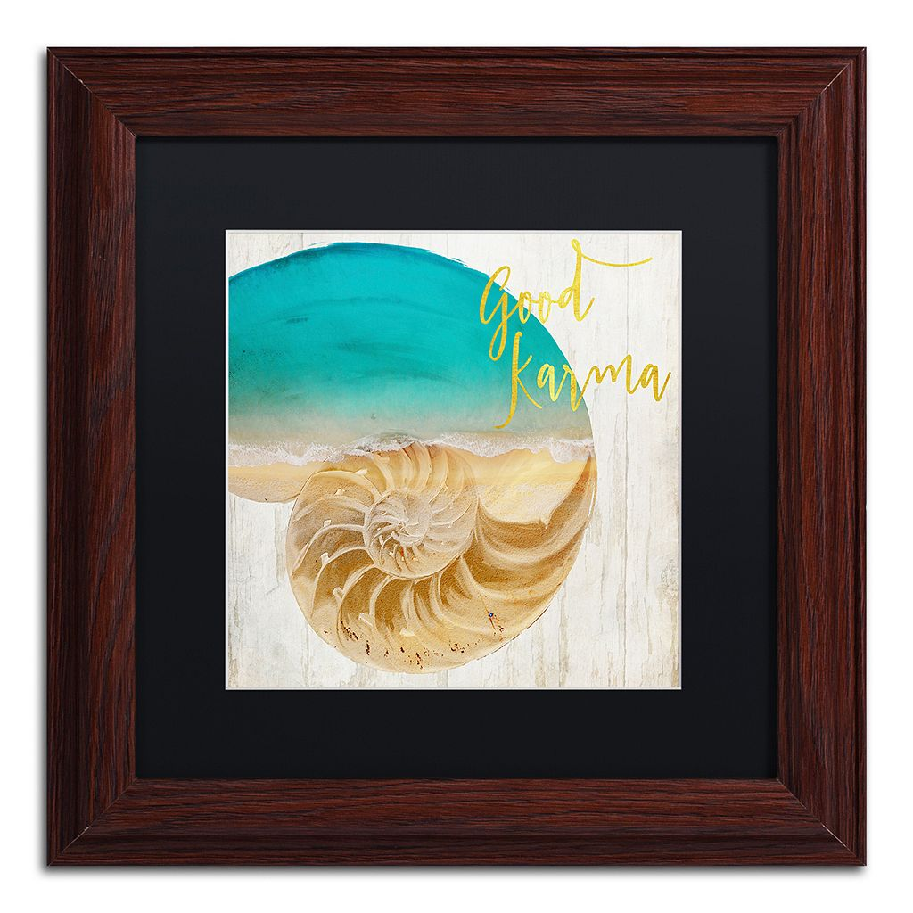 Trademark Fine Art Sea In My Hand Framed Wall Art
