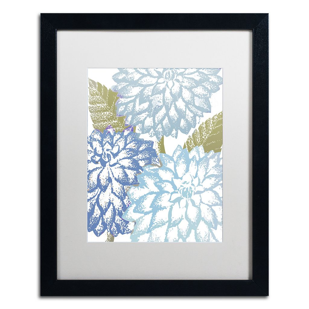 Trademark Fine Art Sea Dahlias I Black Framed Wall Art