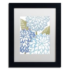 Trademark Fine Art Sea Dahlias I Black Framed Wall Art