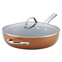Farberware Luminescence 12-in. Deep Skillet with Helper Handle