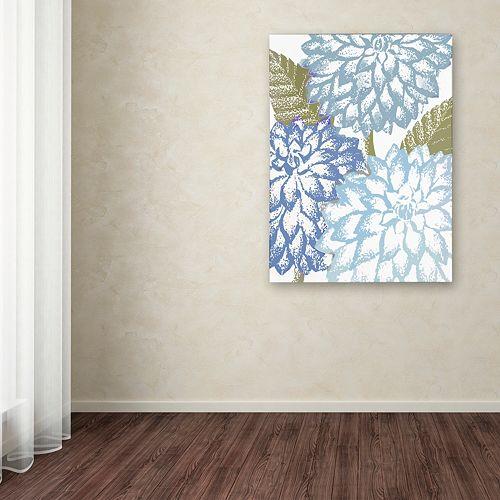 Trademark Fine Art Sea Dahlias I Canvas Wall Art