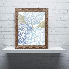 Trademark Fine Art Sea Dahlias I Ornate Framed Wall Art