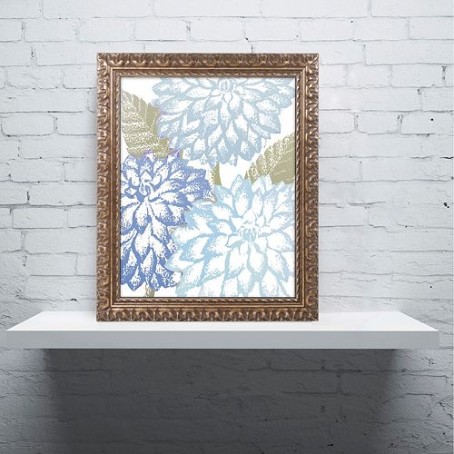 Trademark Fine Art Sea Dahlias I Ornate Framed Wall Art