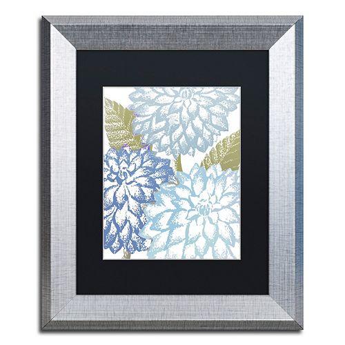 Trademark Fine Art Sea Dahlias I Silver Finish Framed Wall Art