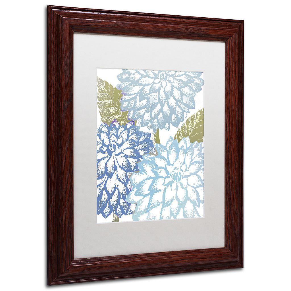 Trademark Fine Art Sea Dahlias I Framed Wall Art