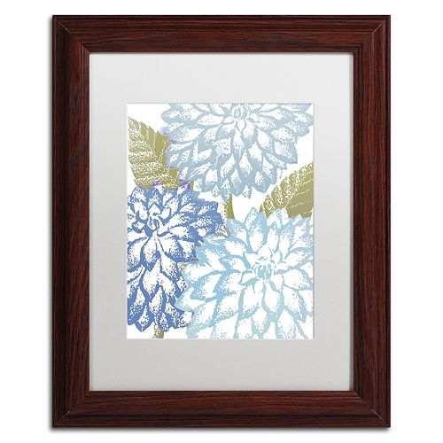Trademark Fine Art Sea Dahlias I Framed Wall Art