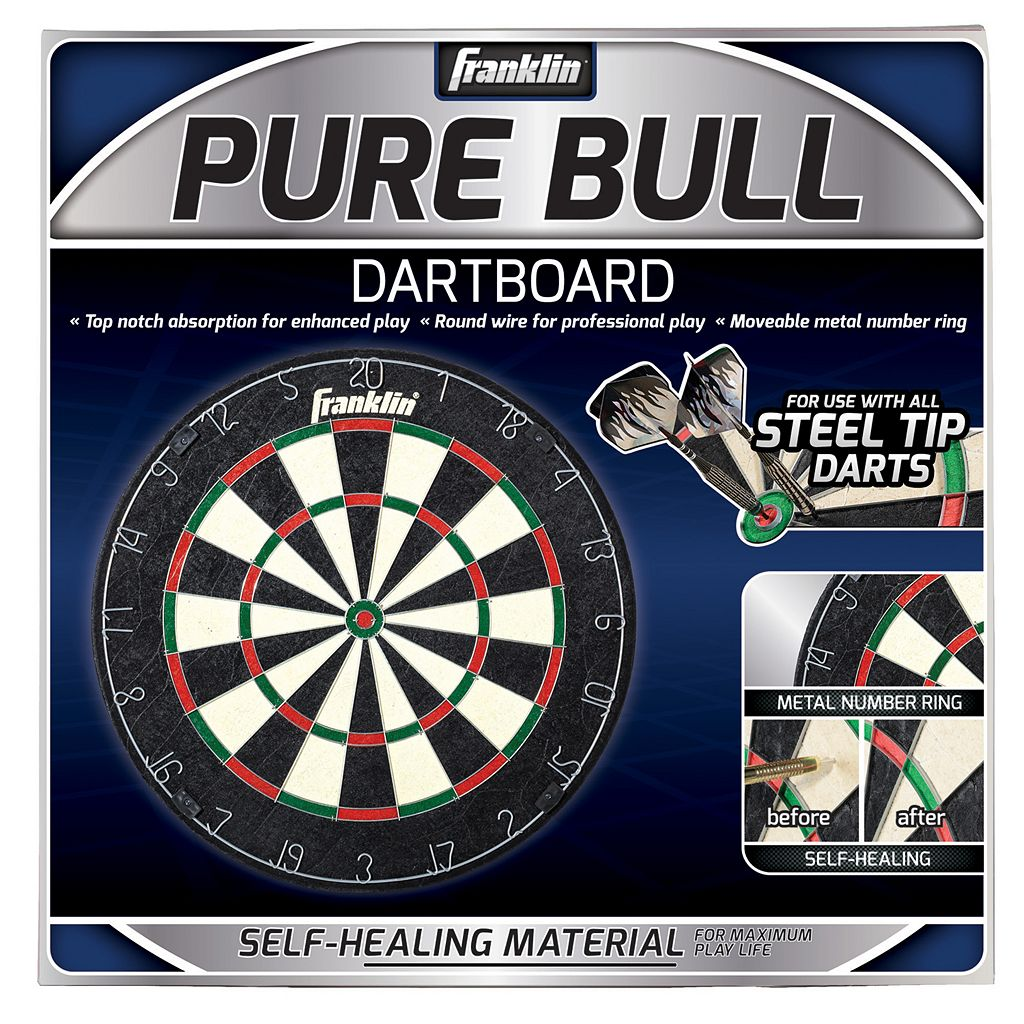 Franklin Sports 18-Inch Pure Bull Bristle Dartboard