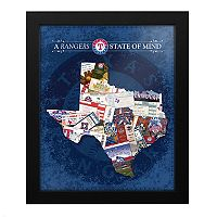 Texas Rangers State of Mind Framed Wall Art