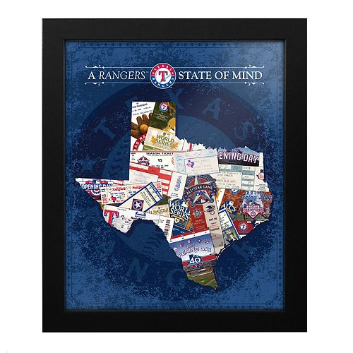 Texas Rangers State of Mind Framed Wall Art