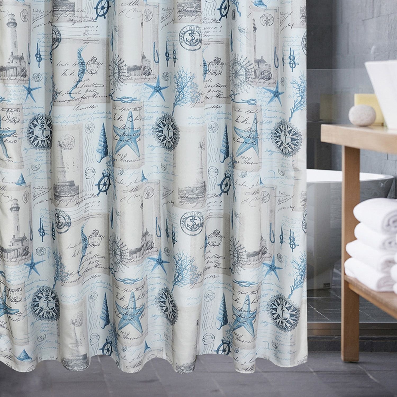 Popular Bath Sail Away Shower Curtain. Blue