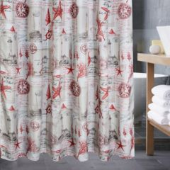 Red Shower Curtains Accessories Bathroom Bed Bath Kohl S
