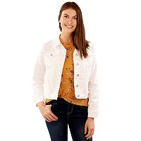 Juniors' Wallflower Long Sleeve Denim Jacket