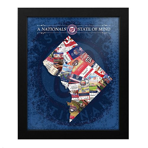 Washington Nationals D.C. State of Mind Framed Wall Art