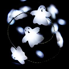 Manor Lane 10-ft. LED Ghost Halloween String Lights
