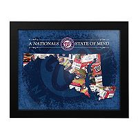 Washington Nationals Maryland State of Mind Framed Wall Art